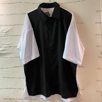 oversize black/white切り替えシャツ