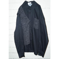 Knit docking black shirt