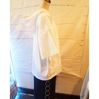 ボタンがかわいい半袖パーカー-white-