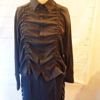 変形 black cord  shirt