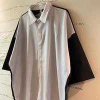oversize white/black 切り替えシャツ