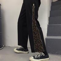 ZIPPER切り替えパンツ (leopard)