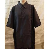 oversizeラインシャツ(darkgray×black)