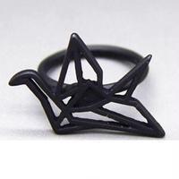 折形さんっぽいリング Black