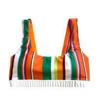 stripe bikini tops