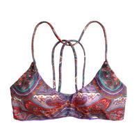 purple paisley bikini tops