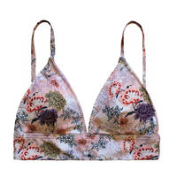 flower triangle  bikini tops