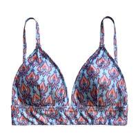 paisley triangle bikini tops
