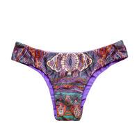 purple paisley slim pants