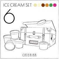 定番!6種のアイスクリームセット
