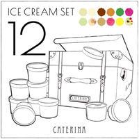 「定番と〝旬〟」12種のアイスクリームセット