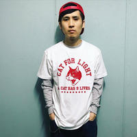 【College_9 lives】Tshirt _White