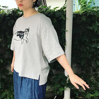 【Cat for Light LOGO】Ladies Over Tshirt