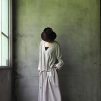 NATIVE VILLAGE ネイティブヴィレッジ / Linen wool Vネックワンピース /  na-20024