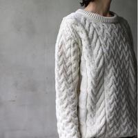 aran woollen millsアラン ウーレンミルズ   /  Cable & Weave Aran Crew  Sweaterニット/ ar-B689N