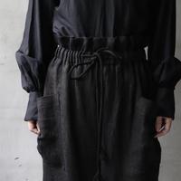 cavane キャヴァネ / Waist frill wide pantsパンツ / ca-20138B