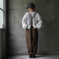 cavane キャヴァネ / over pants with suspenderオーバーパンツ /  ca-20142
