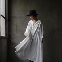 cavane キャヴァネ / Wide shirt one-piece dressワイドドレス / ca-19048
