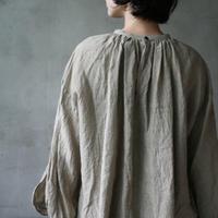 cavane キャヴァネ /   Linen Smock blouseスモックブラウス / ca-19095