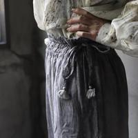 Tabrik タブリク / 濃墨Gather pantsパンツ / ta-21012
