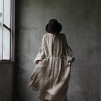 cavane キャヴァネ /  Balloon sleeve linen dressバルーンスリーブドレス / ca-19079