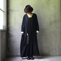 NATIVE VILLAGE ネイティブヴィレッジ / Linen wool Vネックワンピース /  na-20025
