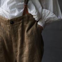 cavane キャヴァネ / over pants with suspenderオーバーパンツ /  ca-20107