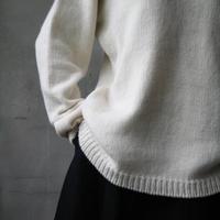 Bergfabel バーグファベル / Handmade pulli round collarカシミヤ ニット/ BFmW14/11