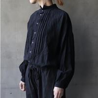 cavane キャヴァネ / Stand coll pleated shirtシャツ / ca-20500