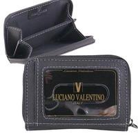 ルチアーノバレンチノ牛革シボ 小銭入付定期入れパスケース フラグメントケース キャッシュレスミニ財布LUV3008