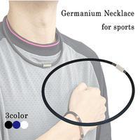スポーツ選手愛用で注目度UPシリコンゲルマニウムネックレス チタンスポーツネックレス野球サッカーゴルフtg337