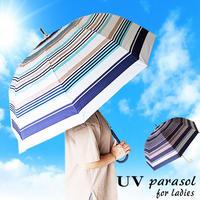 レディースドーム日傘 晴雨兼用 紫外線カット99%以上 コーティング 60センチ GOODデザイン 女性用 コンパクト長傘 雨傘 おしゃれ遮光 UPF50+ 遮熱um2063j