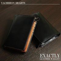 【VACHERON HEARTS 】ヴァセロンハーツ メンズ ショートウォレット 短財布  本革牛革レザーVH1000