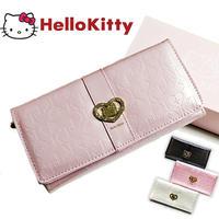 【Hello Kitty】ハローキティ キティちゃん かぶせ付き 長財布 短財布 エナメル  大人可愛いkty-wal