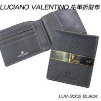 ルチアーノバレンチノ 牛革 本革 レザー シボ メンズ折財布 LUV3002