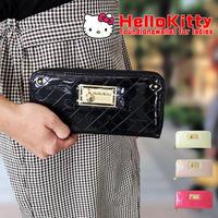 【Hello Kitty】ハローキティ キティ キティちゃん エナメル  ラウンドファスナー長財布 大人可愛い 定形外郵便 送料無料  kty26-11
