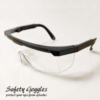 軽量43g!!目を保護するゴーグル マスクを着けても曇りにくい 花粉対策 安全メガネ 花粉防止メガネ めがね 眼鏡  ケース付きlegl03