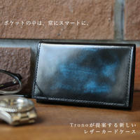 注目の新ブランドTronoデビュー!日本製 極薄 薄型設計  便利な2ポケット 名刺ホルダー付き  本革 オールレザー ブラッシュオフで味のある仕上がり  trono0001