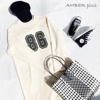 No.86 long sweat one-piece White