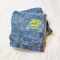 Original vintage denim like hand towel