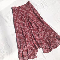 Paisley Hemline Skirt  Red
