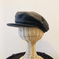 Wool marine cap    -charcoal gray-
