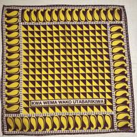 BINDU bandanna  -yellow×brown-