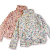 Multi color nep turtle sweater
