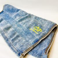 Original vintage denim like  face towel
