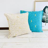 Chenille cushion cover / star & crescentmoon