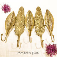 Feather & leaf  hook