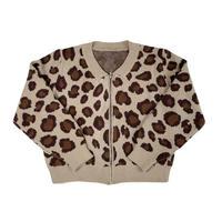 Leopard zip-up short jumper
