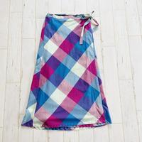 Check wrap skirt