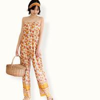 Floral  jump suits